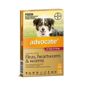 Advocate For Dogs 10-25Kg Red 6 Pack