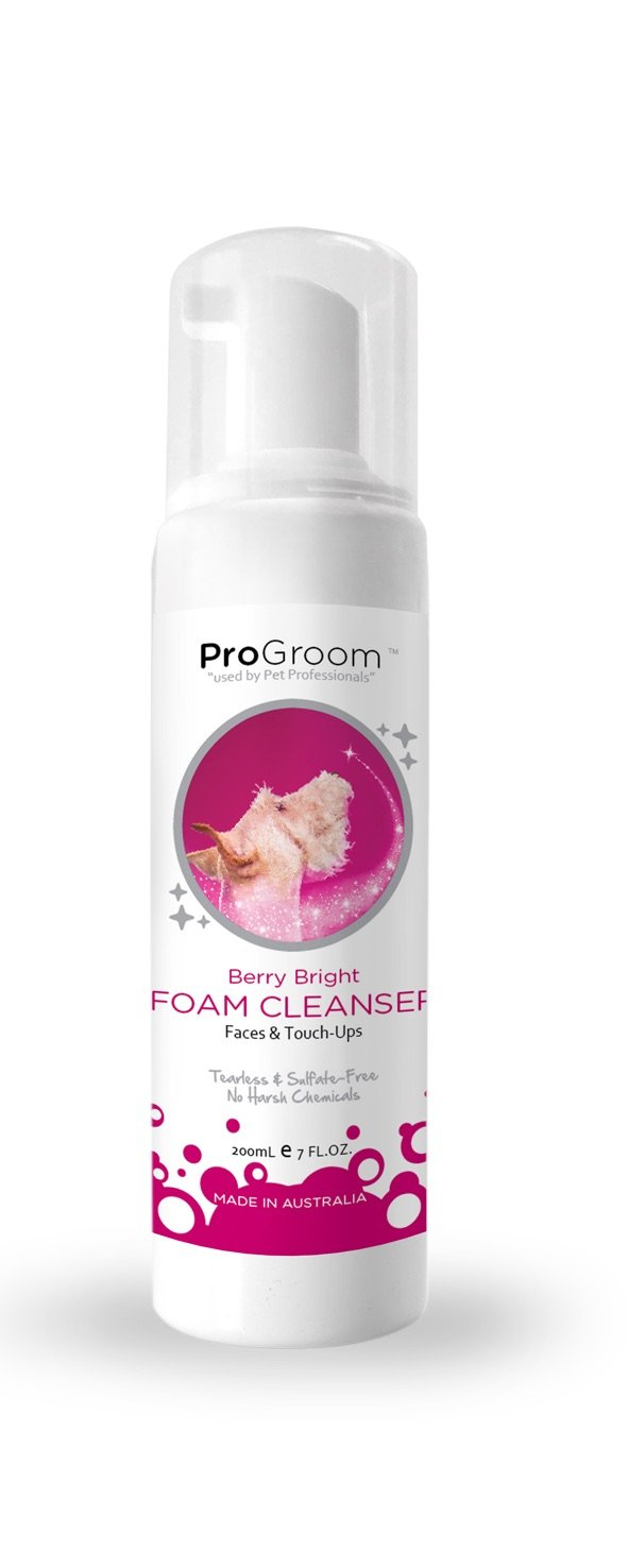 ProGroom Berry Bright Facial Foam Cleaner 200 ml - Foamer Bott
