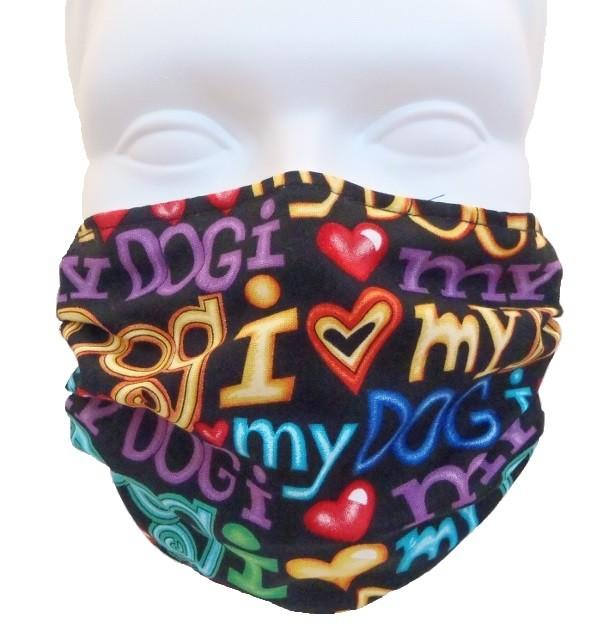 Breathe Healthy I Love My Dog Mask