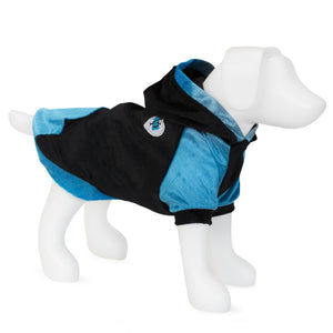 F&R for VP Pets Fleece Hoodie - Blue/Black - EXTRA SMALL