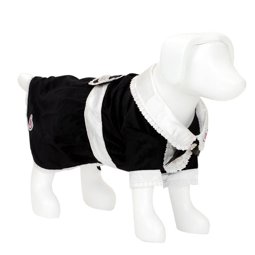 F&R for VP Pets Tuxedo Dress - Black - EXTRA SMALL