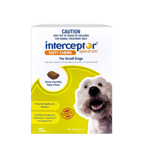 Interceptor Spectrum Chews For Dogs 4-11Kg Green 6's