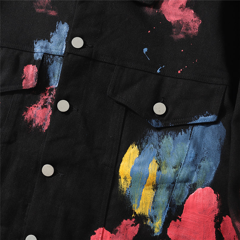 Paint Splash Denim Jacket