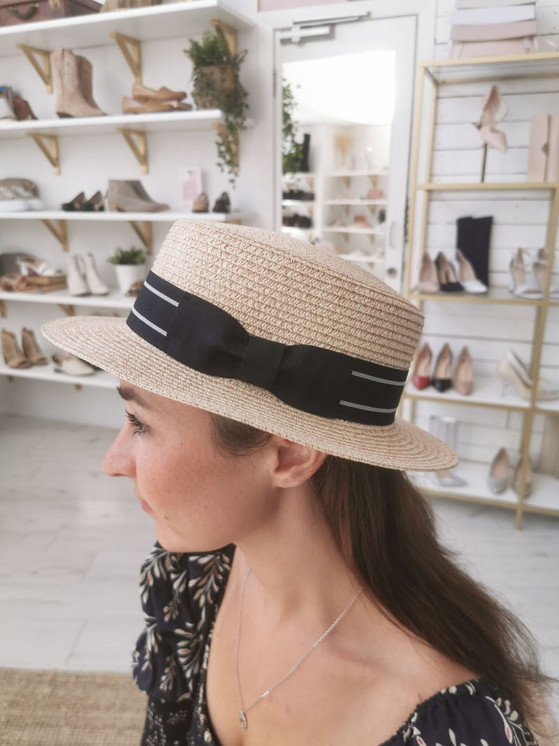 SH410NAT SUMMER PAPER STRAW BOATER HAT