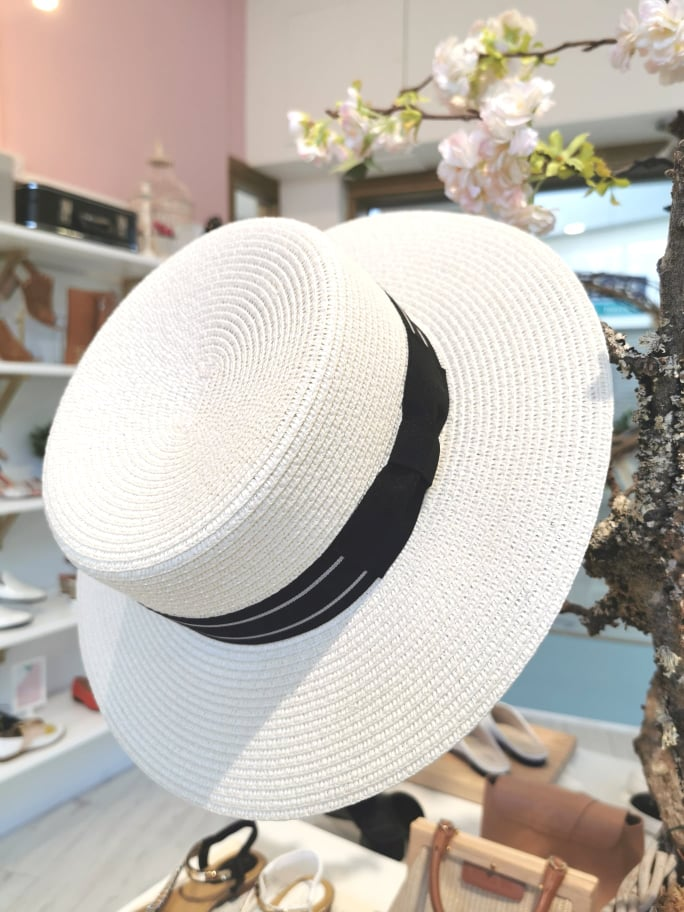 SH411CRM SUMMER PAPER STRAW BOATER HAT