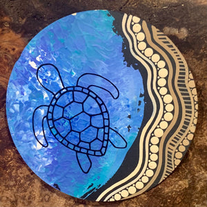 Turtle coasters set of 6