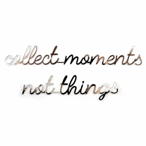 Goegezegd - Collect moments not things - zwart