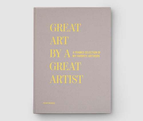 Frame book - Great Art by a great artist- beige