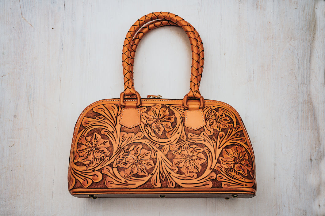Margarita Mini Tote in Burnt Orange