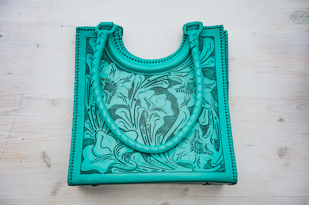 Earth Mother Turquoise Tote