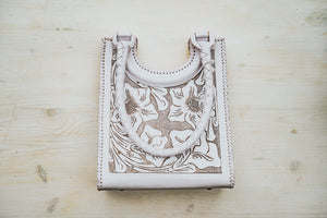 "Earth Mother ""Mini"" White Tote"