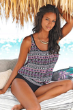 BLACK MULTI OVERSIZED TANKINI SET