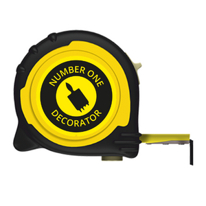 No1 DECORATOR BRANDED TAPE MEASURE - 5M/16FT 8M/26FT