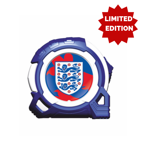 OFFICIAL ENGLAND 2020 5M-16FT BRANDED TAPE MEASURE - LIMITED EDITION BLUE, EURO 2020 ENGLAND, ENGLAND 2020, EURO 2020 QUALIFIER, EURO 2020 GROUP, EURO 2020 FOOTBALL, OFFICIAL EURO 2020 MERCHANDISE, EURO 2020 OFFICIALLY LICENSED MERCHANDISE