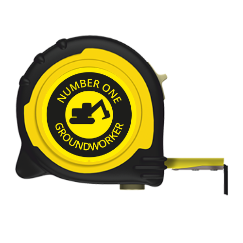 No1 GROUNDWORKER BRANDED TAPE MEASURE - 5M/16FT 8M/26FT