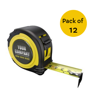 OWN BRANDED TAPE MEASURE EC CLASS II - 5M-16FT - BLACK 25MM- PACK OF 12