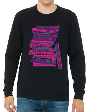 BRATPACK STACK CREWNECK FLEECE - BLACK