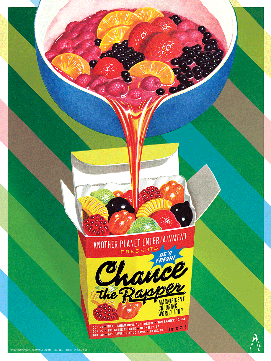 CHANCE THE RAPPER POSTER - BAY AREA