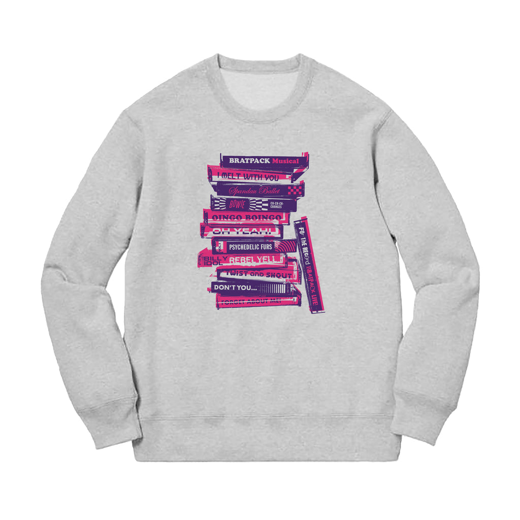 BRATPACK STACK CREWNECK FLEECE - HEATHER GREY