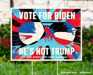 VOTE FOR BIDEN Art-Yard Sign