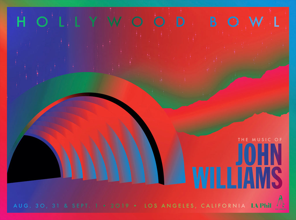 JOHN WILLIAMS - GRADIENT - HOLLYWOOD BOWL (FLUORESCENT LITHO)