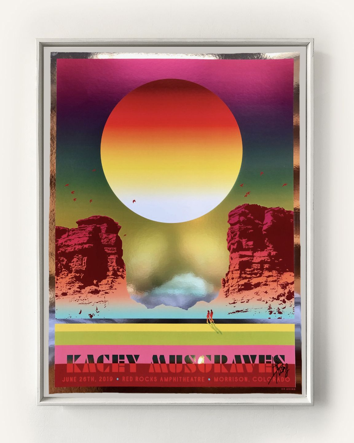 KACEY MUSGRAVES POSTER - RED ROCKS 2019 (METALLIC FOIL)