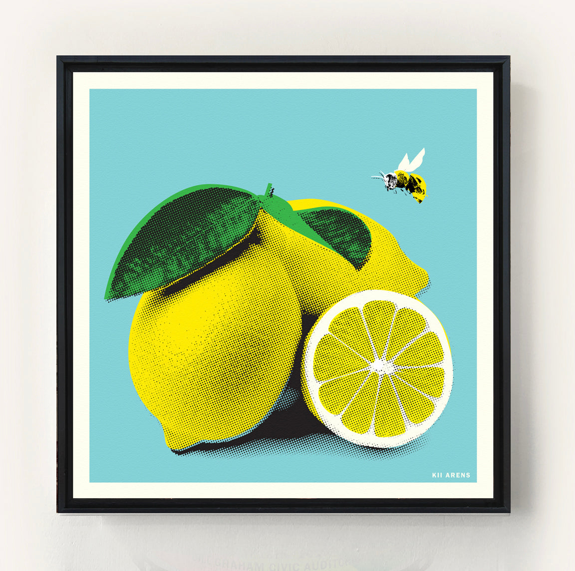 Lemon Bee Print