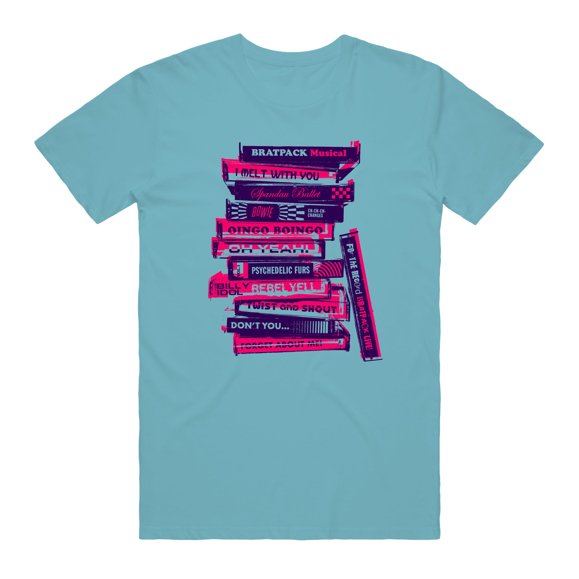 BRATPACK STACK TEE - TURQUOISE