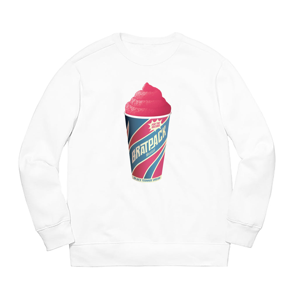 BRATPACK FREEZE  CREWNECK FLEECE - WHITE