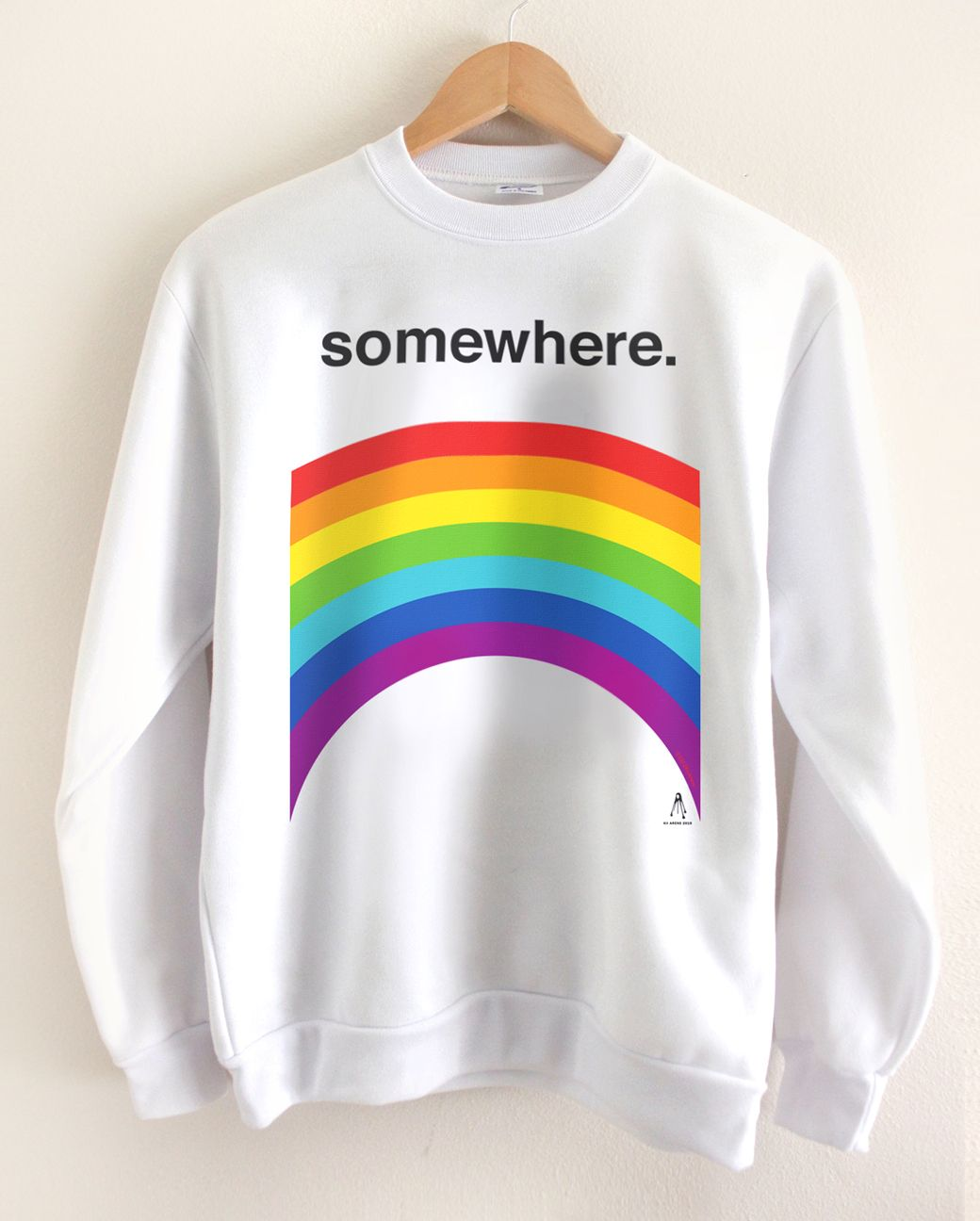 SOMEWHERE OTR 2019 CREWNECK SWEATSHIRT - WHITE