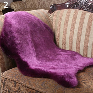 Soft Faux Sheepskin Rug Mat Carpet Pad Anti-Slip Chair Sofa Cover Home Decor
