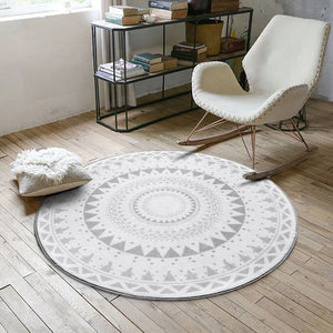 Modern Plush Floor Rug Round Area Carpet For Living Room Bedroom Home Textile Decor Rugs