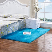 Load image into Gallery viewer, Wool Bedside Mats Artificial Faux Sheepskin Carpet For Living Room Bedroom Floor Mat