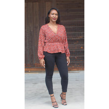Load image into Gallery viewer, Nicole Print Cinch Waist Top