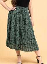 Load image into Gallery viewer, Patrice Pleated Midi Skirt Plus