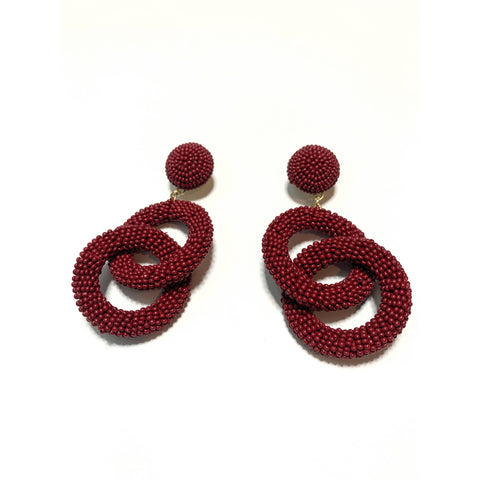 Ava Beaded Link Earrings