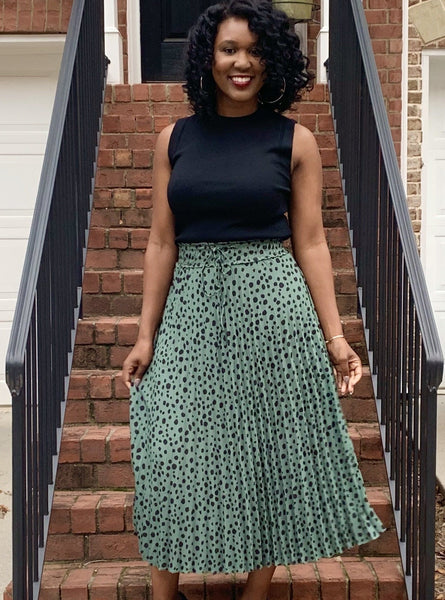 Patrice Pleated Midi Skirt