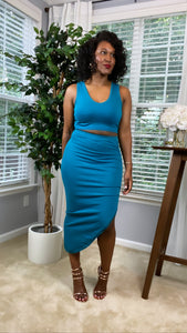 Kerissa Tank/Midi Skirt Set