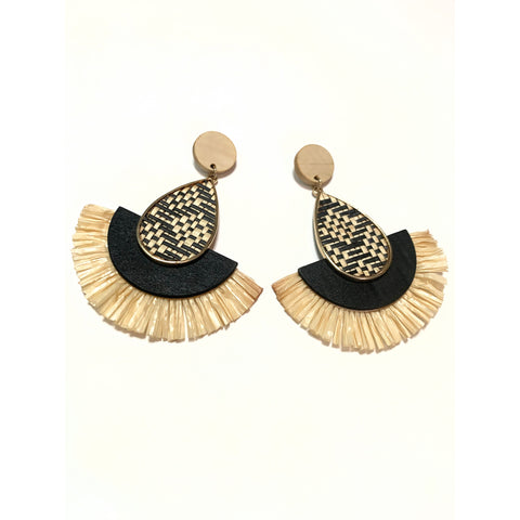 Danielle Animal Print Tassel Earrings