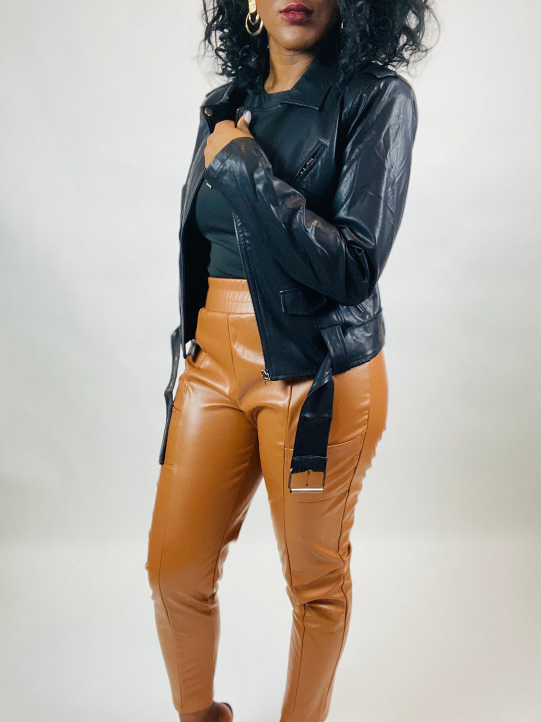 Angelina Faux Leather Moto Jacket