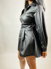 Load image into Gallery viewer, Ashlyn Faux Leather Midi Dress