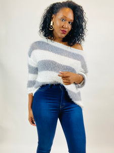 Sevyn Fuzzy Knit Sweater