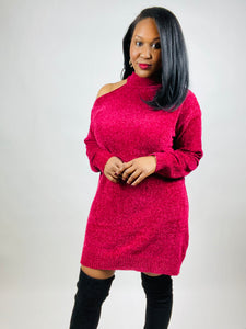 Luna Cold Shoulder Sweater Dress