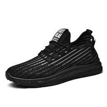 Load image into Gallery viewer, Mr.SHOES 781-Black-White  2019 new men's shoes lightweight breathable comfortable flat-bottomed sports shoes
