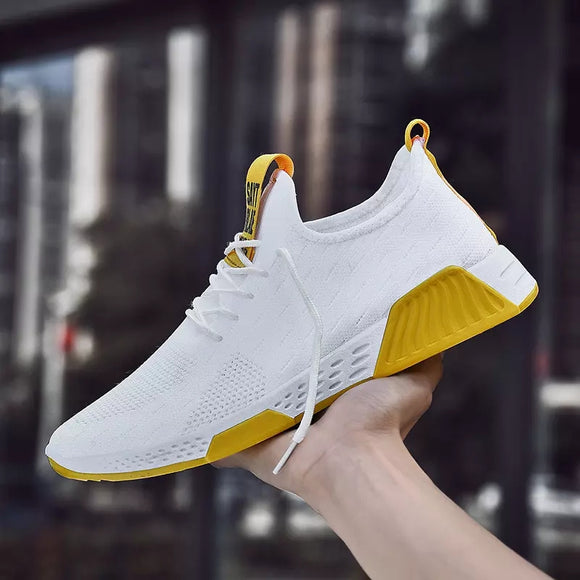 Copy of Mr.SHOES Fashion Summer Sneakers Running Shoes  Mesh Sports Shoes 2019 Running Shoes For Men (White)