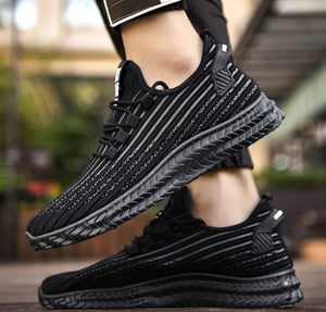 Mr.SHOES 781-Black-White  2019 new men's shoes lightweight breathable comfortable flat-bottomed sports shoes