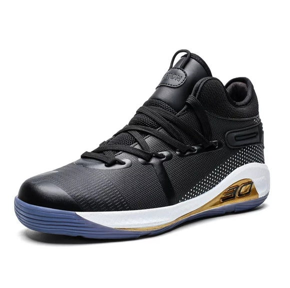 Mr.shoes men Air Cushion Basketball Sneakers Anti-skid High-top Basketball Shoes For Men