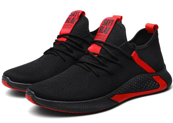 Mr.SHOES TL-2 blk-red High quality men's mesh autumn and non-slip lightweight breathable running shoe