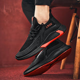 Mr.SHOES 2020  Men's Breathable Casual Shoes Non-slip Lace-up Comfortable Running Shoes Footwear TL-3