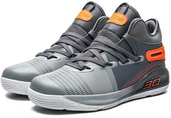 Mr.SHOES  men Air Cushion Basketball Sneakers Anti-skid High-top Basketball Shoes For Men  (Grey)